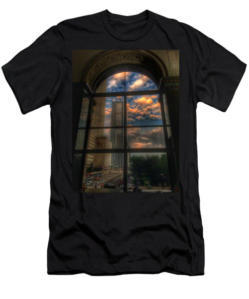 Sunset View Of Chicago Men's T-Shirt (Athletic Fit)