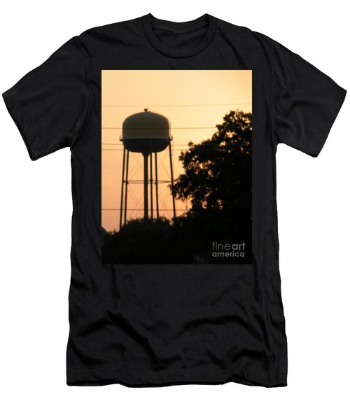 Men's T-Shirt (Slim Fit) featuring the photograph Sunset Water Tower by Joseph Baril