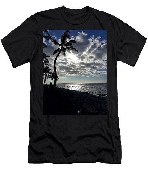 Sunset With Palm Trees Men's T-Shirt (Slim Fit) by Pamela Walton