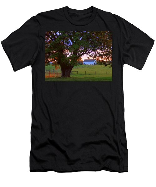 Sunset With Tree Men's T-Shirt (Athletic Fit)