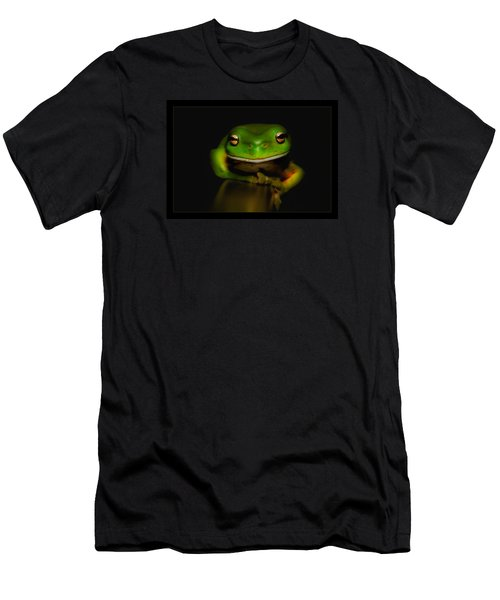 Men's T-Shirt (Slim Fit) featuring the photograph Super Frog 01 by Kevin Chippindall