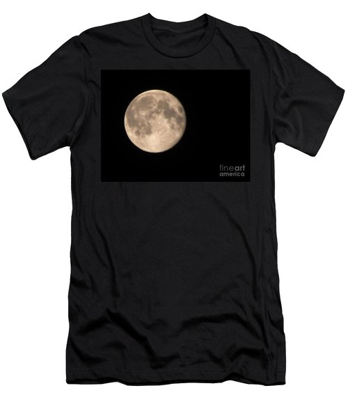 Men's T-Shirt (Slim Fit) featuring the photograph Super Moon by David Millenheft