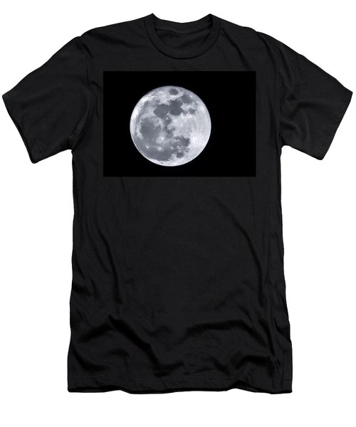 Super Moon Over Arizona  Men's T-Shirt (Slim Fit) by Saija  Lehtonen