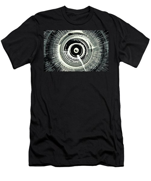 Super Nova Black Men's T-Shirt (Athletic Fit)