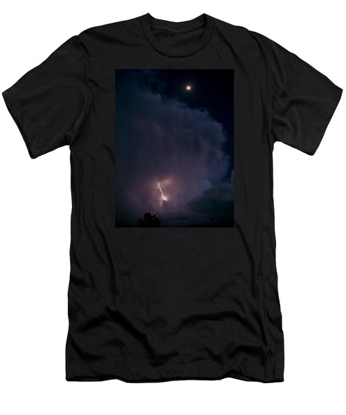Men's T-Shirt (Slim Fit) featuring the photograph Supercell Moon by Ed Sweeney