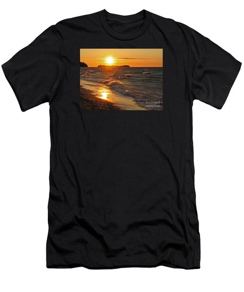 Men's T-Shirt (Slim Fit) featuring the photograph Superior Sunset by Ann Horn