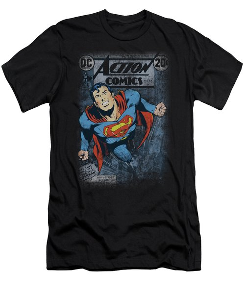 Superman - Action #419 Distress Men's T-Shirt (Athletic Fit)