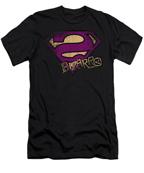 Superman - Bizarro Logo Distressed Men's T-Shirt (Athletic Fit)