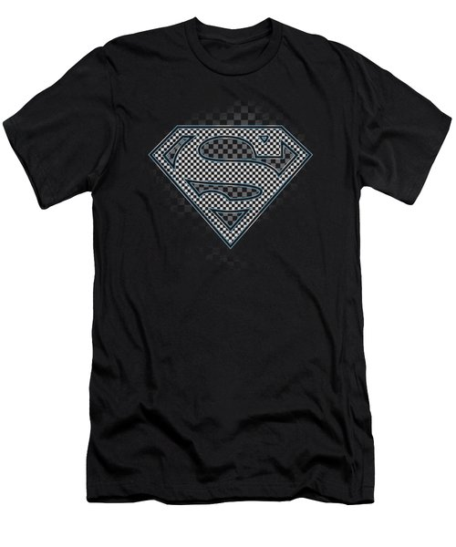 Superman - Checkerboard Men's T-Shirt (Athletic Fit)