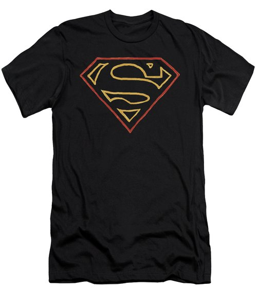 Superman - Colored Shield Men's T-Shirt (Athletic Fit)