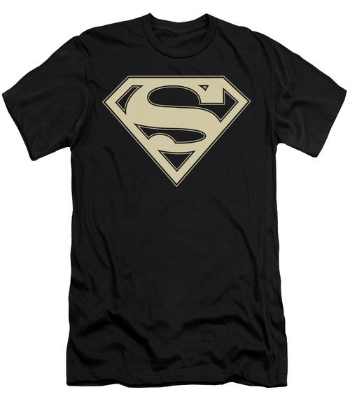 Superman - Crimson And Cream Shield Men's T-Shirt (Athletic Fit)