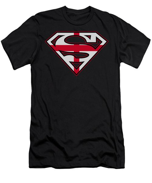 Superman - English Shield Men's T-Shirt (Athletic Fit)