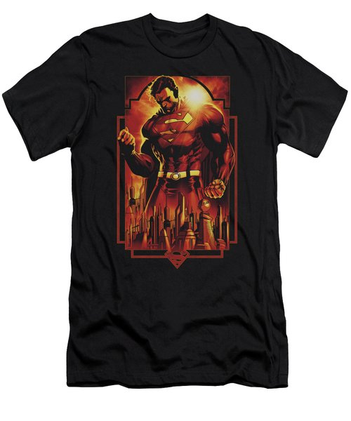 Superman - Metropolis Deco Men's T-Shirt (Athletic Fit)