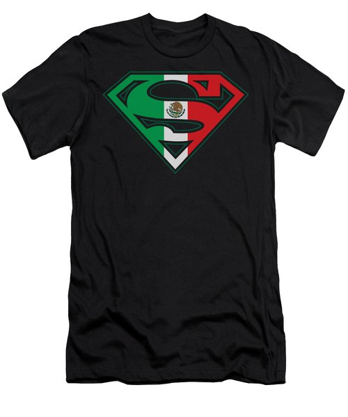 Superman - Mexican Flag Shield Men's T-Shirt (Athletic Fit)