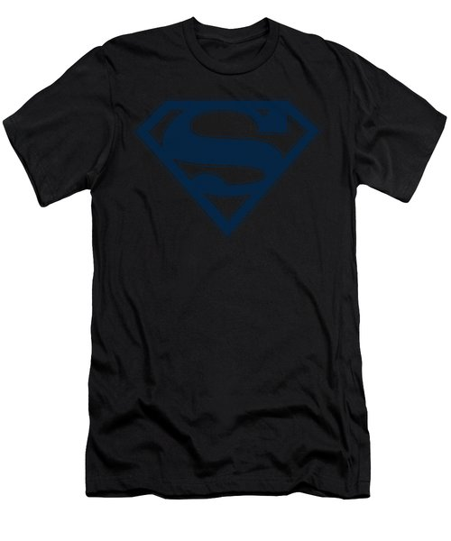 Superman - Navy And Gold Shield Men's T-Shirt (Athletic Fit)