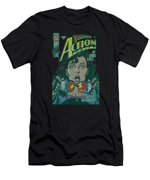 Superman - Secret Revealved Men's T-Shirt (Athletic Fit)