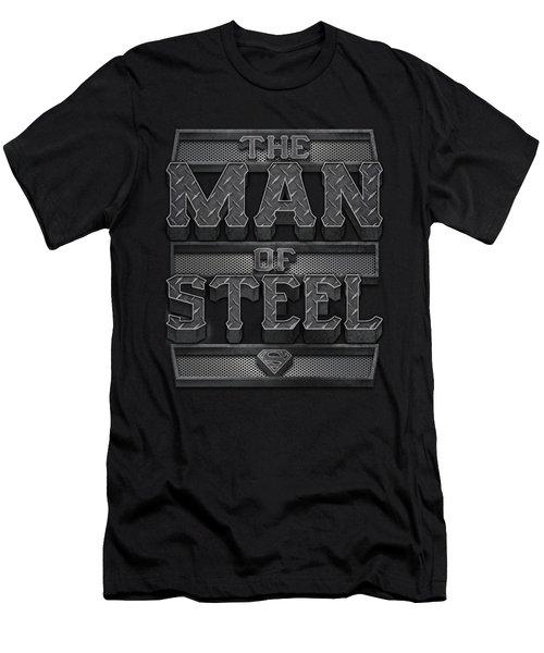 Superman - Steel Text Men's T-Shirt (Athletic Fit)