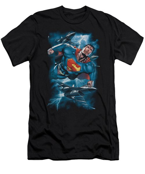 Superman - Stormy Flight Men's T-Shirt (Athletic Fit)