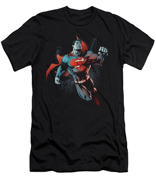 Superman - Up In The Sky Men's T-Shirt (Athletic Fit)
