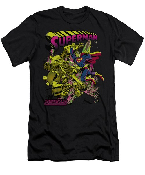 Superman - Versus Metallo Blacklight Men's T-Shirt (Athletic Fit)