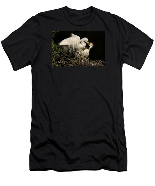 Men's T-Shirt (Slim Fit) featuring the photograph Suppertime by Priscilla Burgers