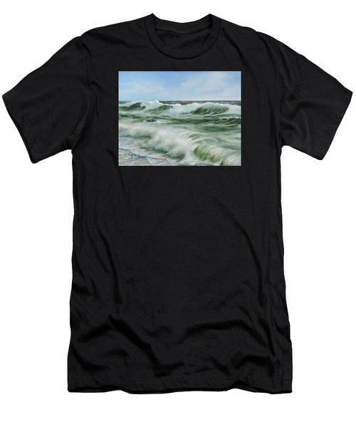 Surf At Castlerock Men's T-Shirt (Athletic Fit)