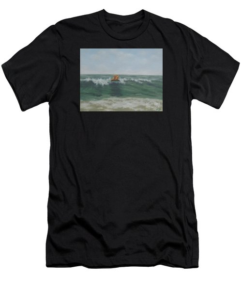 Surfing Golden Men's T-Shirt (Athletic Fit)