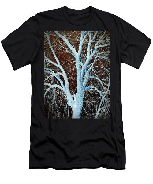 Surreal Blue Tree Men's T-Shirt (Athletic Fit)