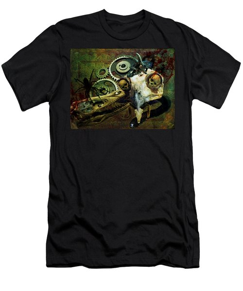 Men's T-Shirt (Slim Fit) featuring the painting Surreal Nightmare by Ally  White