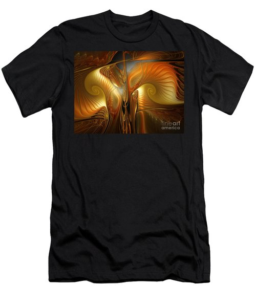 Surrealistic Landscape-fractal Design Men's T-Shirt (Athletic Fit)