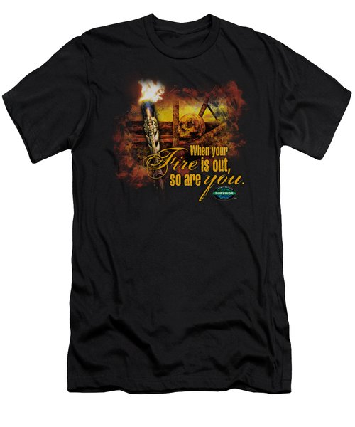 Survivor - Fires Out Men's T-Shirt (Athletic Fit)