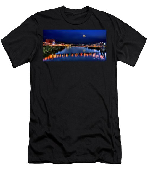 Suspension Bridge Wheeling Wv Panoramic Men's T-Shirt (Athletic Fit)