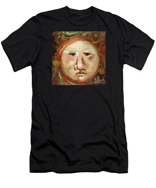 Suspicious Moonface Men's T-Shirt (Athletic Fit)