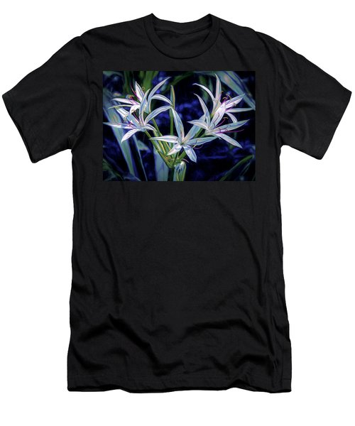 Men's T-Shirt (Athletic Fit) featuring the photograph Swamp Lilies by Steven Sparks