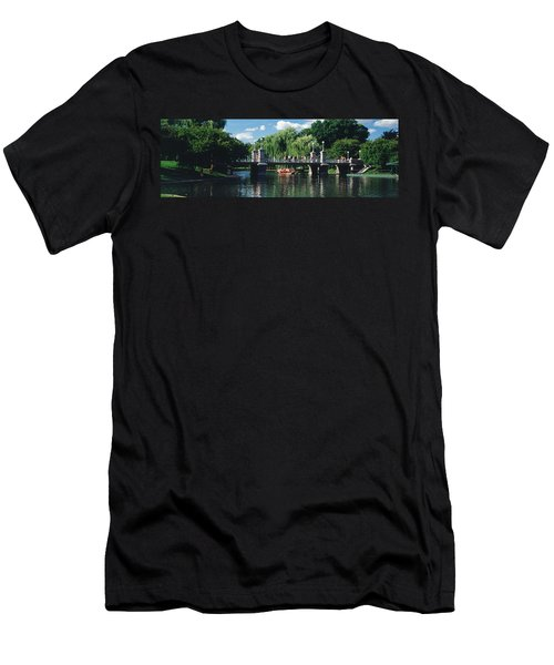 Swan Boat In The Pond At Boston Public Men's T-Shirt (Athletic Fit)