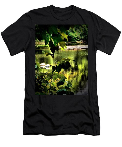 Swan Dive Men's T-Shirt (Slim Fit) by Robert McCubbin
