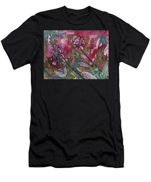 Sweet Peas In Bloom Men's T-Shirt (Athletic Fit)