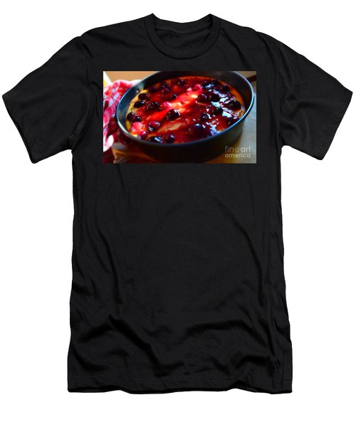 Men's T-Shirt (Slim Fit) featuring the photograph Sweetest Cheese Pie by Ramona Matei