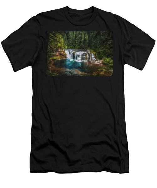 Swimming Hole Men's T-Shirt (Slim Fit) by James Heckt