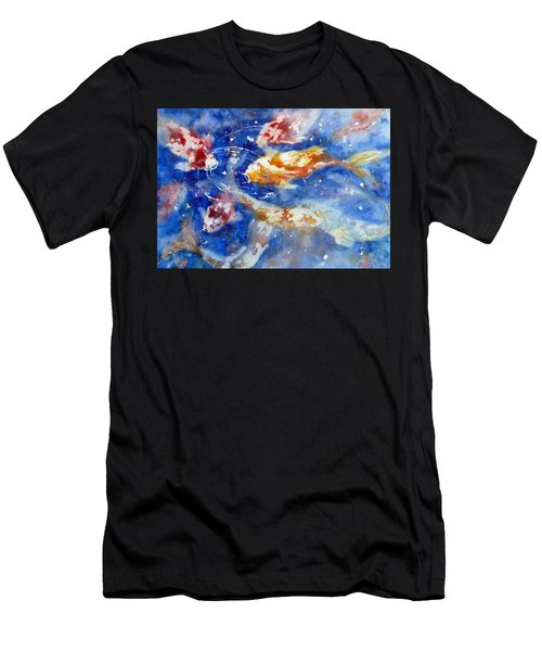 Swimming Koi Fish Men's T-Shirt (Athletic Fit)
