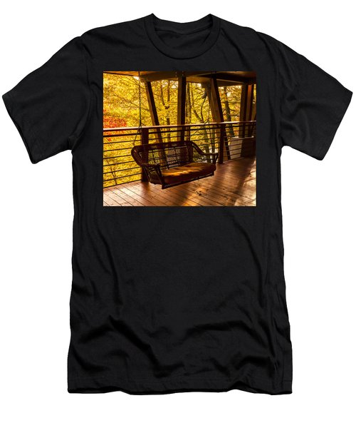 Swinging In Autumn Trees Original Photograph Men's T-Shirt (Athletic Fit)