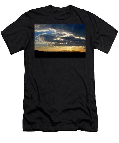 Swirl Sky Landscape Men's T-Shirt (Slim Fit) by Matt Harang