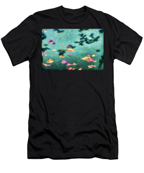 Swirling Leaves And Petals 6 Men's T-Shirt (Athletic Fit)