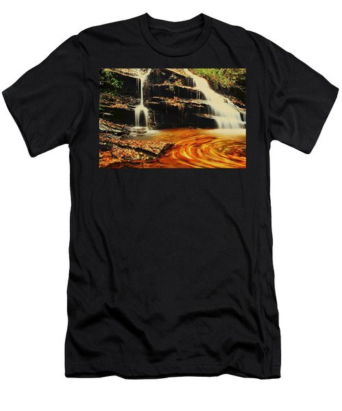Swirling Leaves Men's T-Shirt (Slim Fit) by Rodney Lee Williams