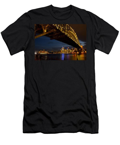 Sydney Harbour Bridge Men's T-Shirt (Slim Fit) by Miroslava Jurcik