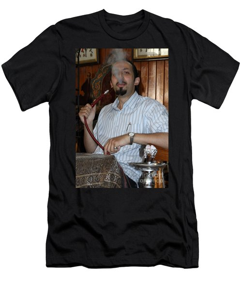 Syrian Man And Waterpipe Men's T-Shirt (Athletic Fit)