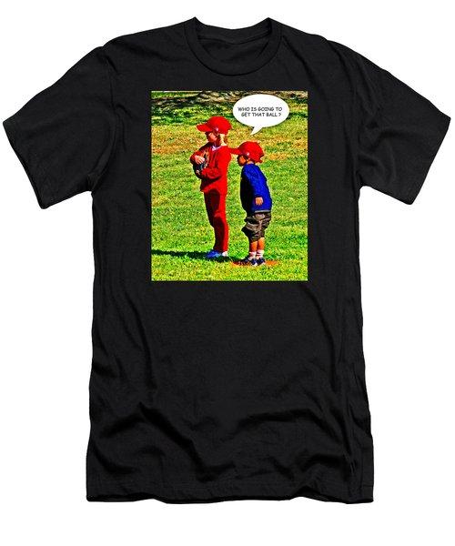 T Ball Fielders Men's T-Shirt (Athletic Fit)