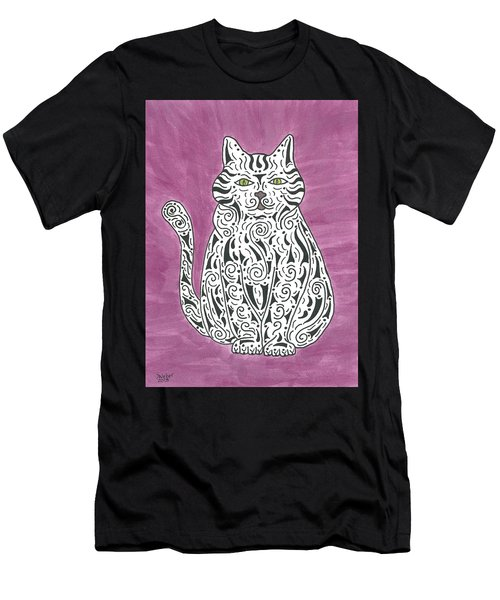 Men's T-Shirt (Slim Fit) featuring the painting Tabby Cat by Susie WEBER