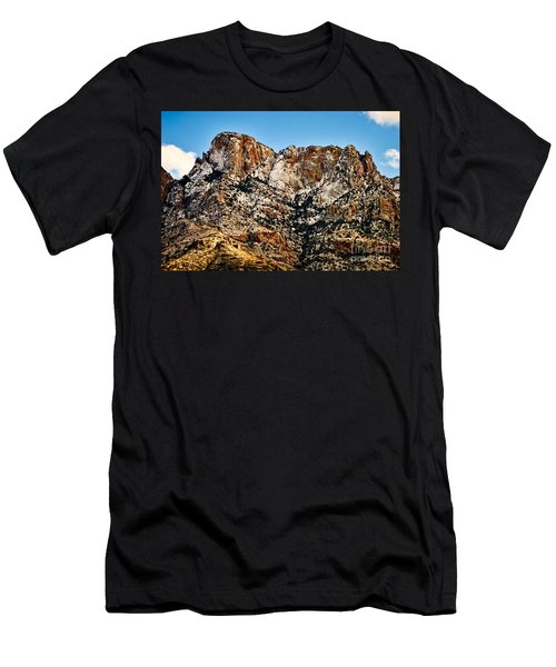 Men's T-Shirt (Slim Fit) featuring the photograph Table Mountain In Winter 42 by Mark Myhaver