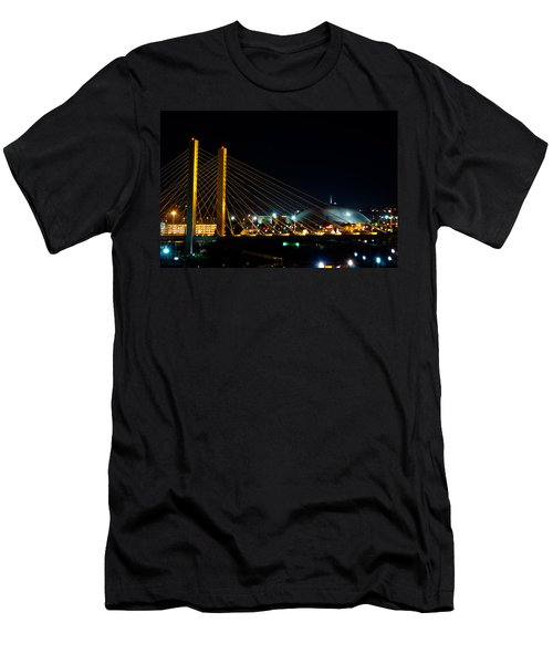 Tacoma Dome And Bridge Men's T-Shirt (Athletic Fit)